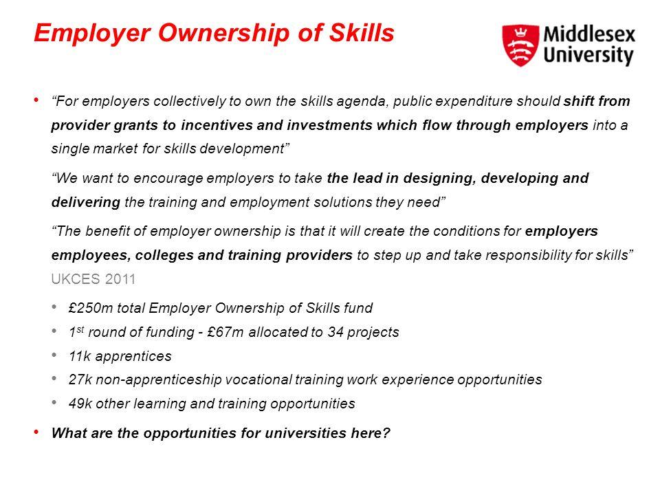 Employer Ownership of Skills