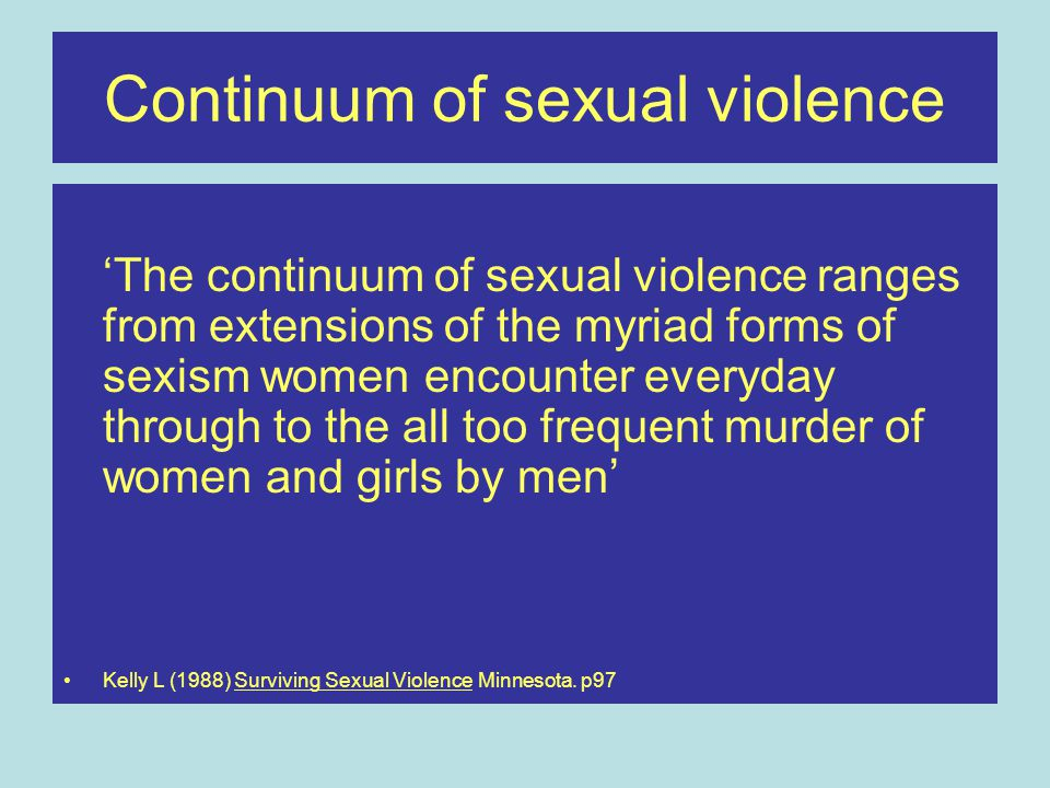 Continuum of sexual violence