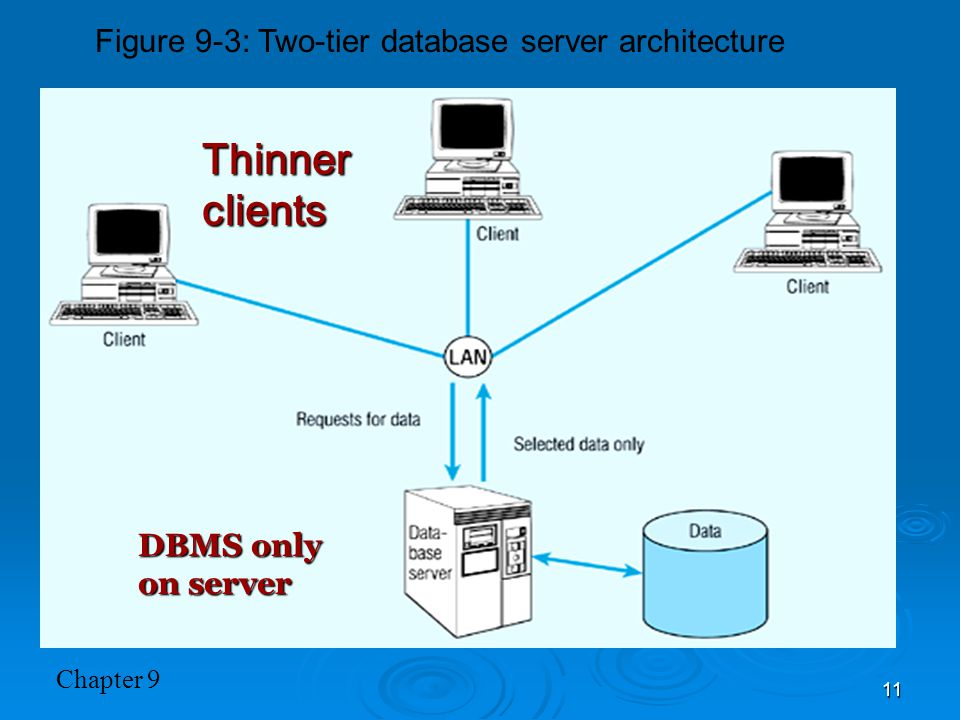 Figure 9-3: Two-tier database server architecture