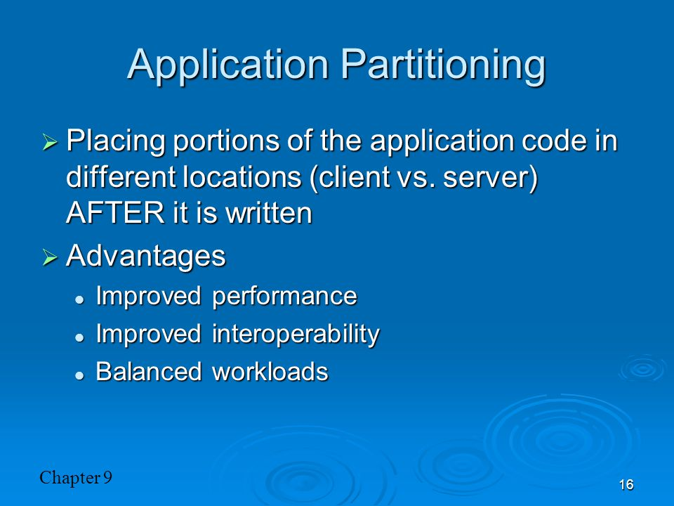 Application Partitioning