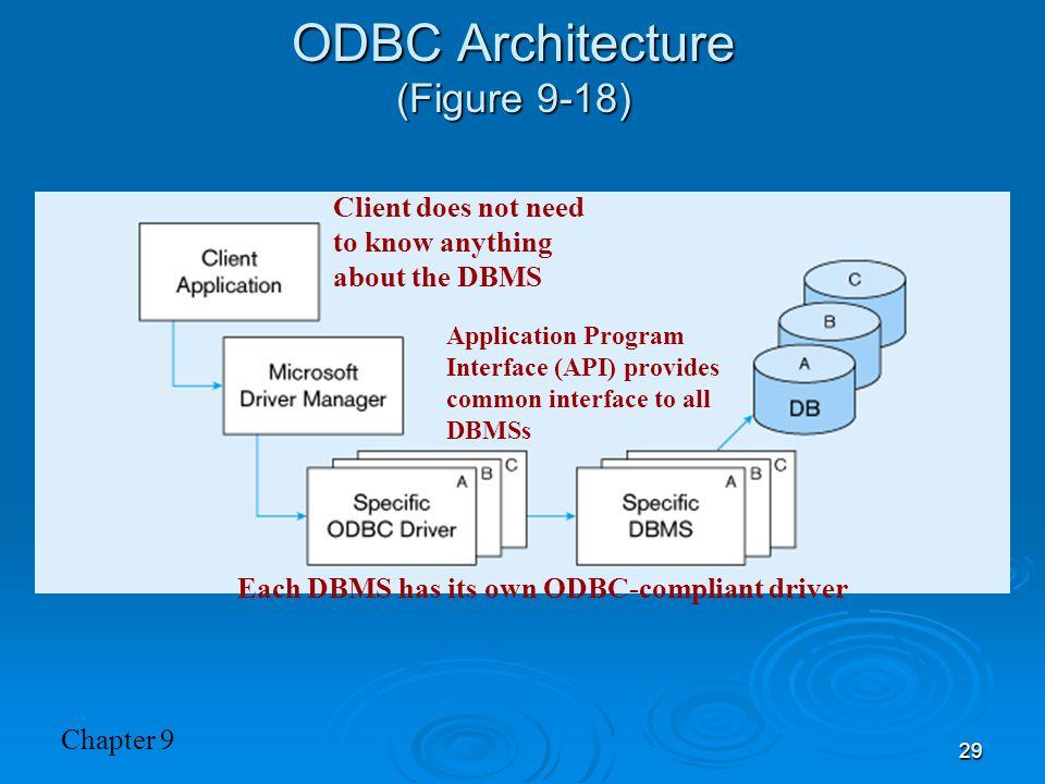 ODBC Architecture (Figure 9-18)