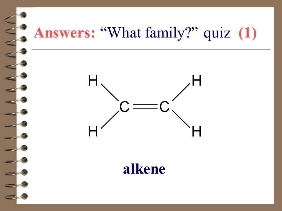 Answers: What family quiz (1)
