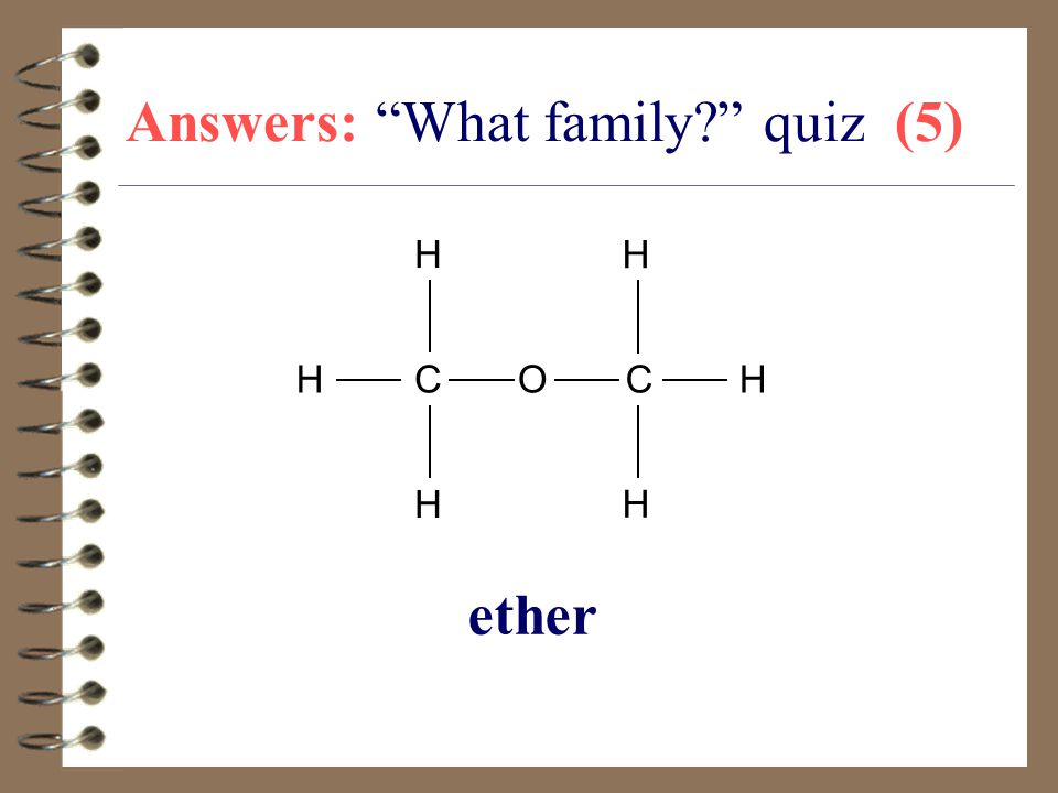 Answers: What family quiz (5)