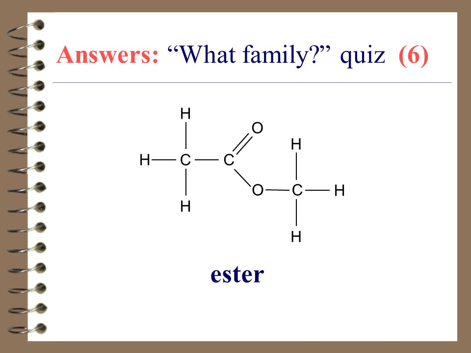 Answers: What family quiz (6)