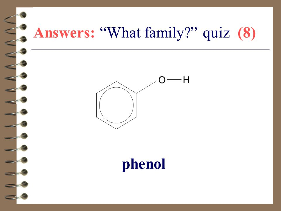Answers: What family quiz (8)