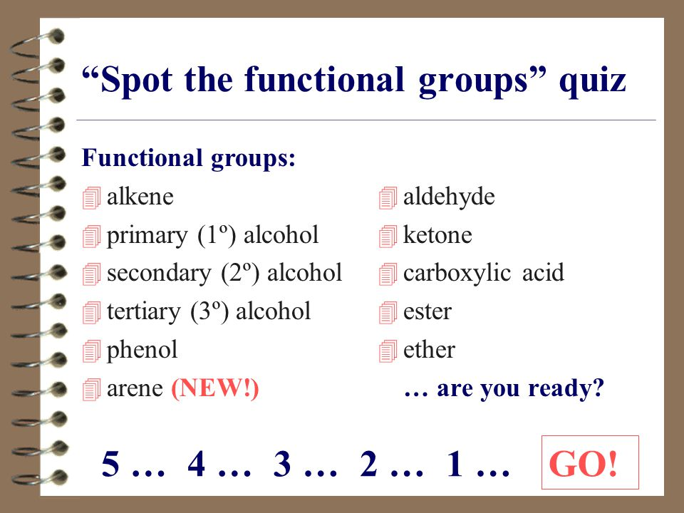 Spot the functional groups quiz