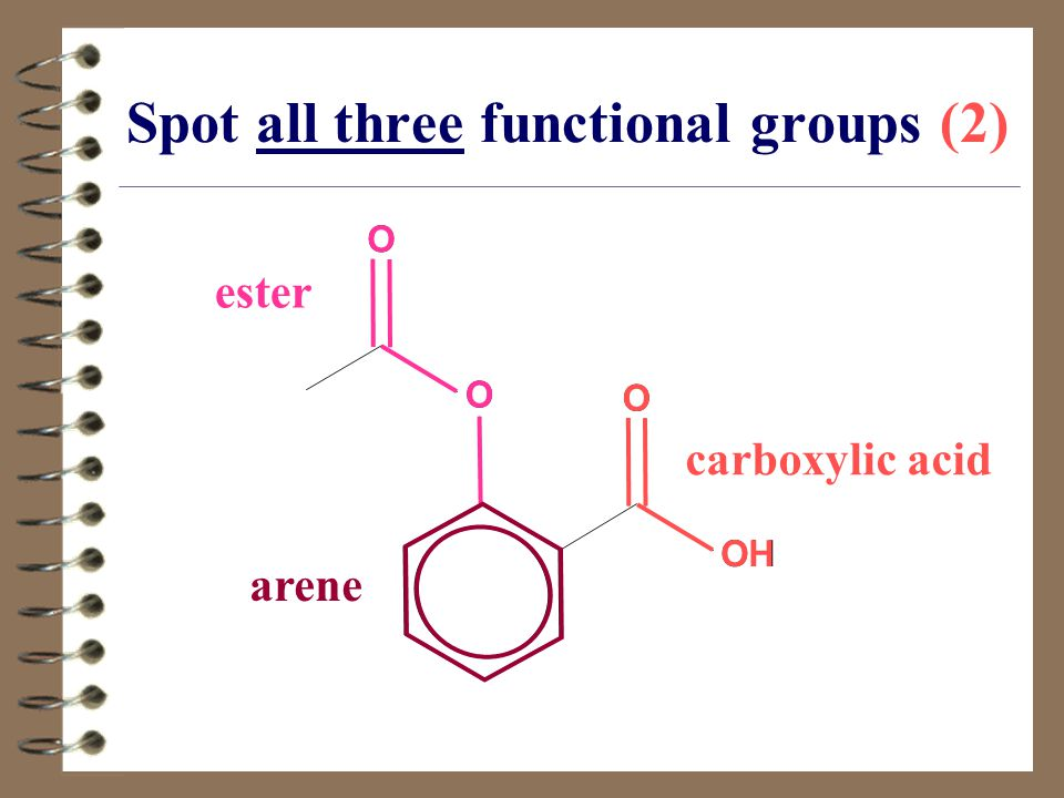 Spot all three functional groups (2)