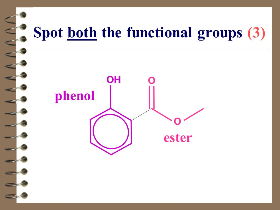 Spot both the functional groups (3)