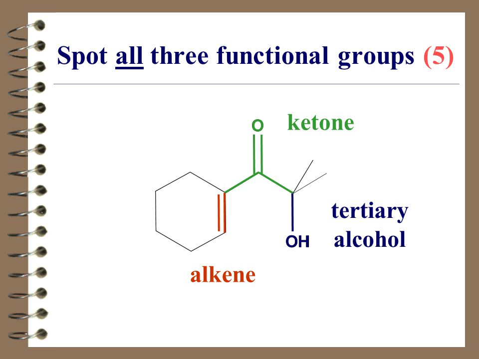 Spot all three functional groups (5)