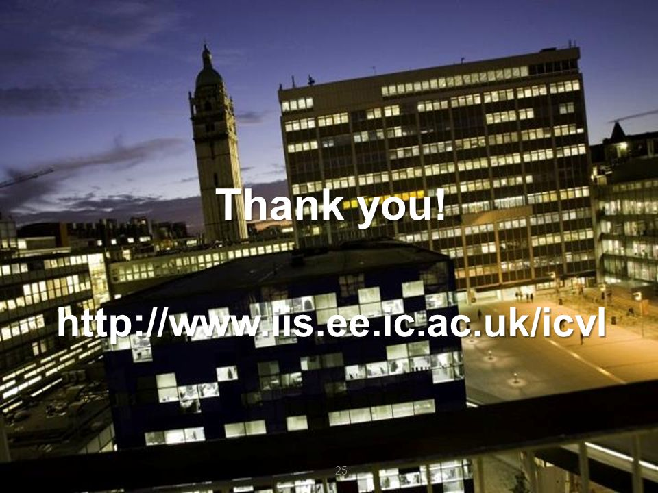 Thank you! http://www.iis.ee.ic.ac.uk/icvl