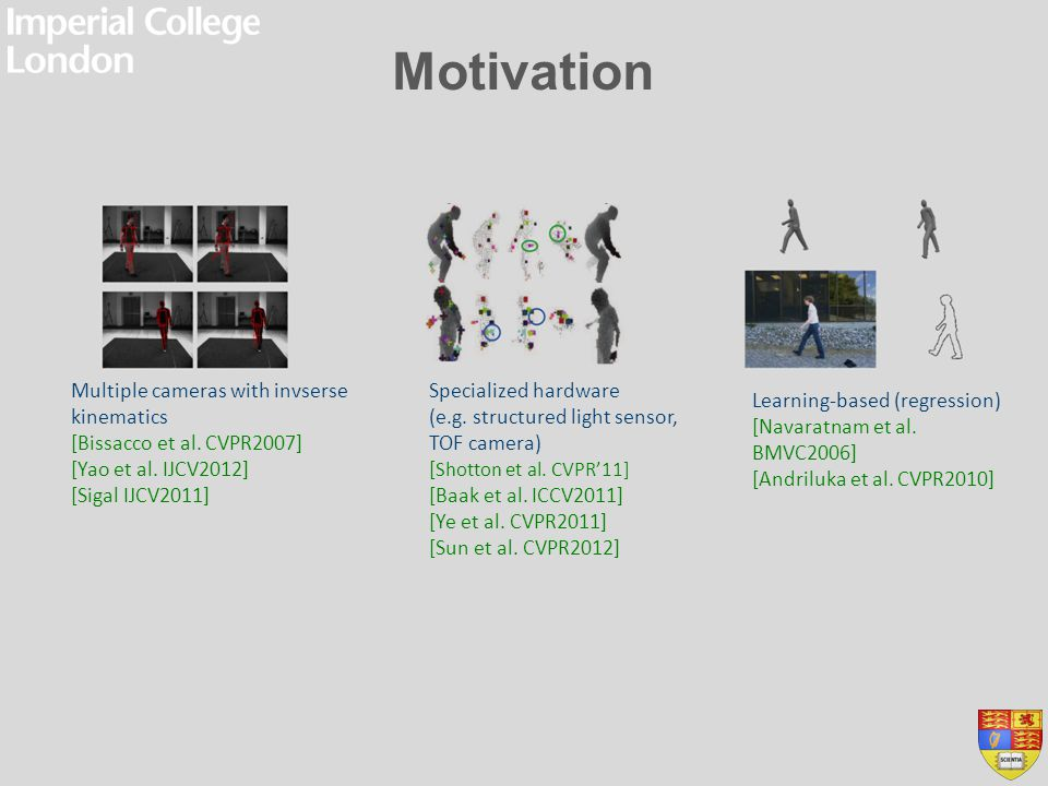 Motivation Multiple cameras with invserse kinematics
