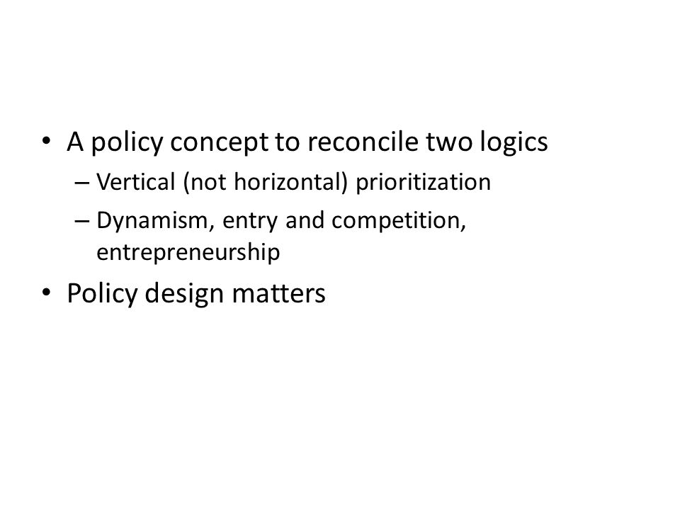 A policy concept to reconcile two logics