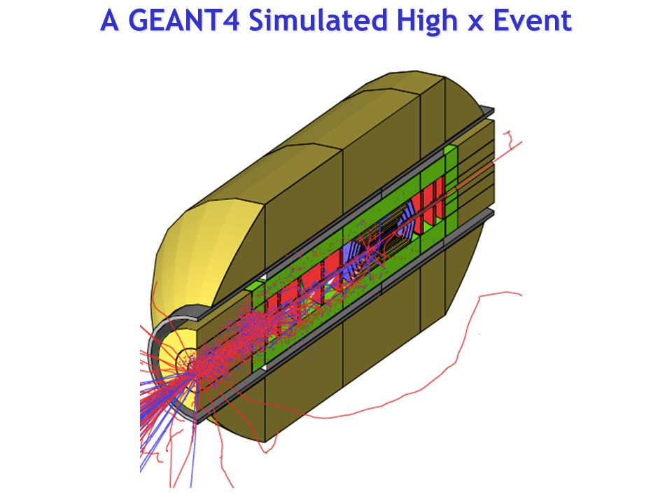 A GEANT4 Simulated High x Event