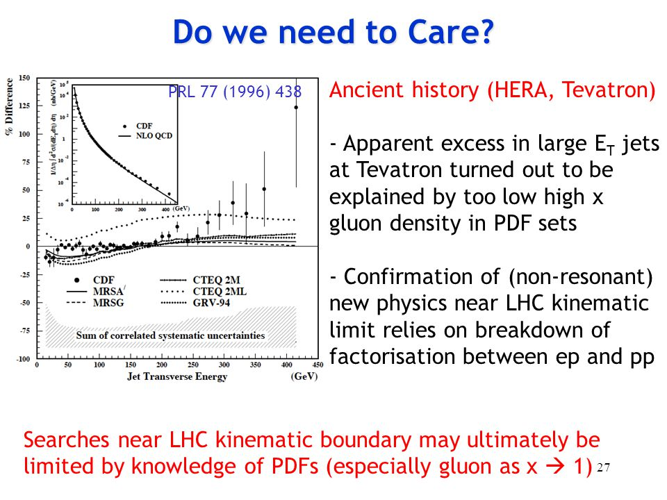 Do we need to Care Ancient history (HERA, Tevatron)