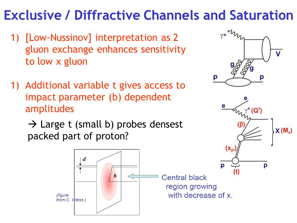 Exclusive / Diffractive Channels and Saturation