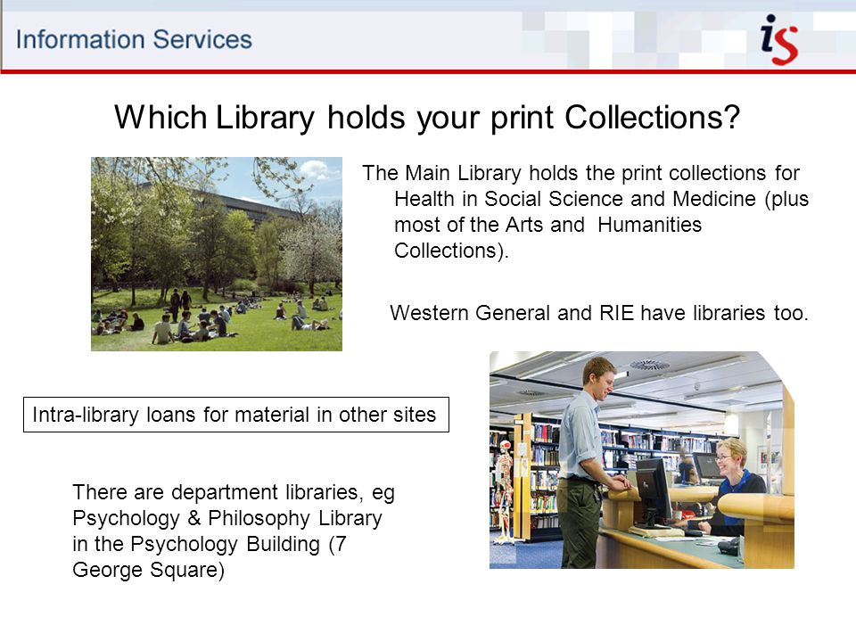 Which Library holds your print Collections