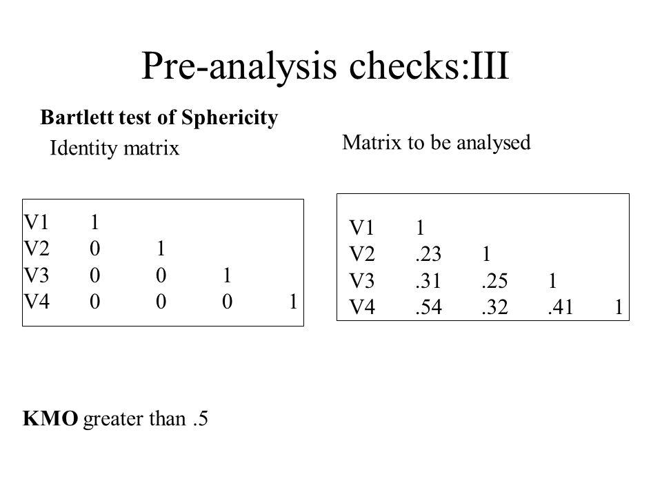 Pre-analysis checks:III