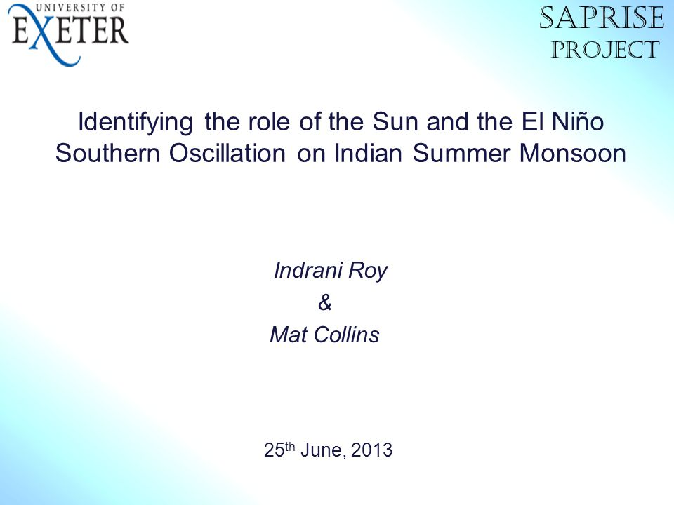 Indrani Roy & Mat Collins