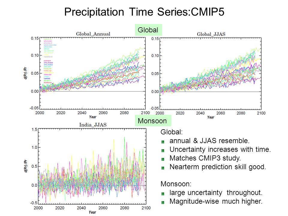 Precipitation Time Series:CMIP5