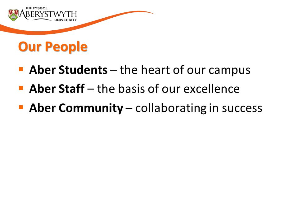 Our People Aber Students – the heart of our campus