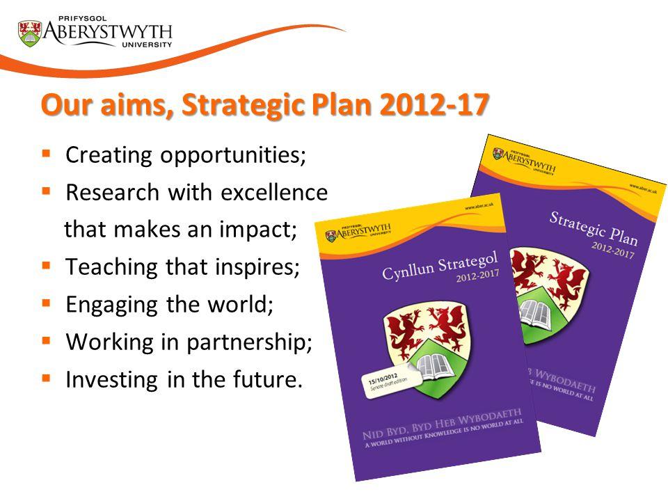 Our aims, Strategic Plan 2012-17