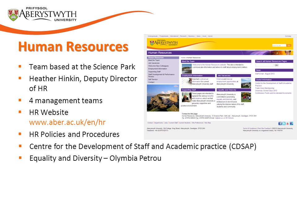Human Resources Team based at the Science Park