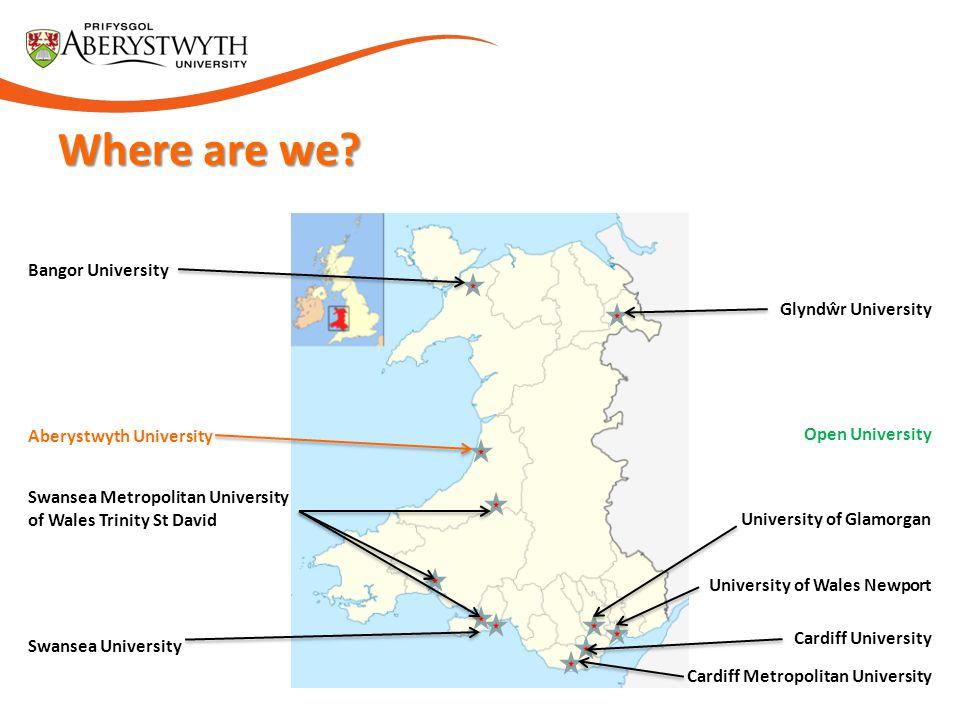 Where are we Bangor University Glyndŵr University