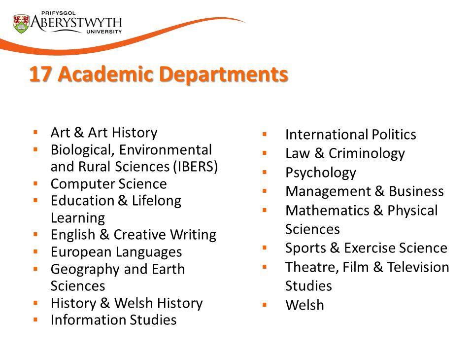 17 Academic Departments Art & Art History