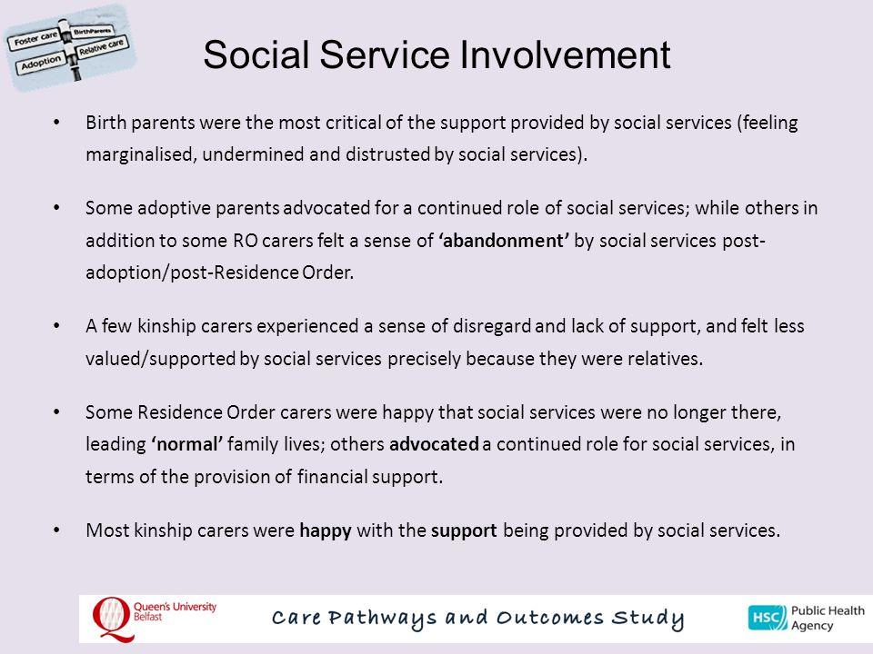 Social Service Involvement
