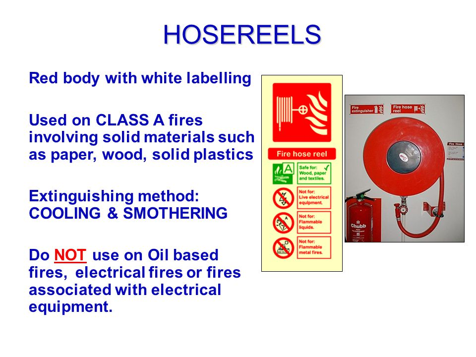 HOSEREELS Red body with white labelling
