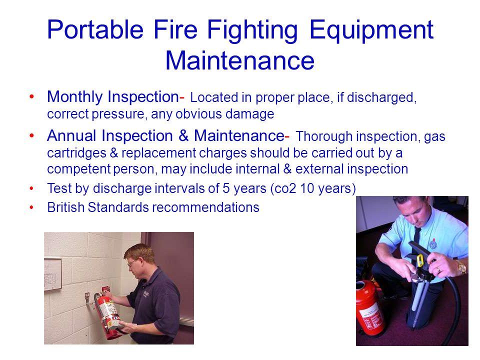 Portable Fire Fighting Equipment Maintenance