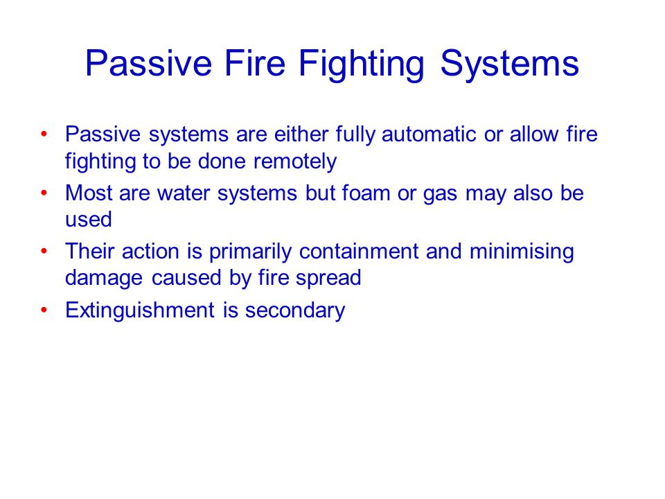 Passive Fire Fighting Systems