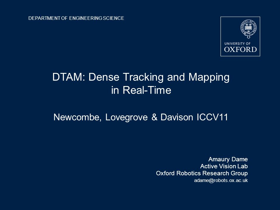 DTAM: Dense Tracking and Mapping in Real-Time