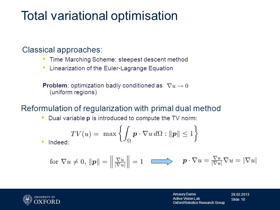 Total variational optimisation