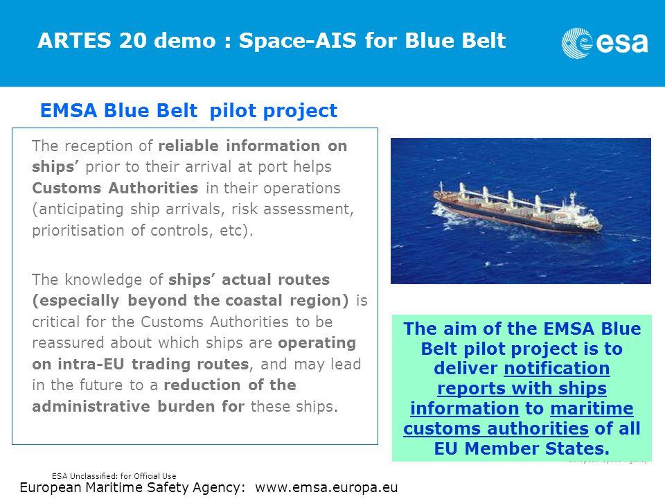ARTES 20 demo : Space-AIS for Blue Belt