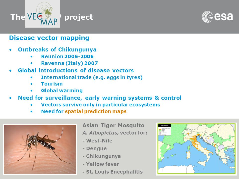 The VECMAP project Disease vector mapping Outbreaks of Chikungunya