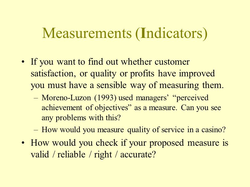 Measurements (Indicators)