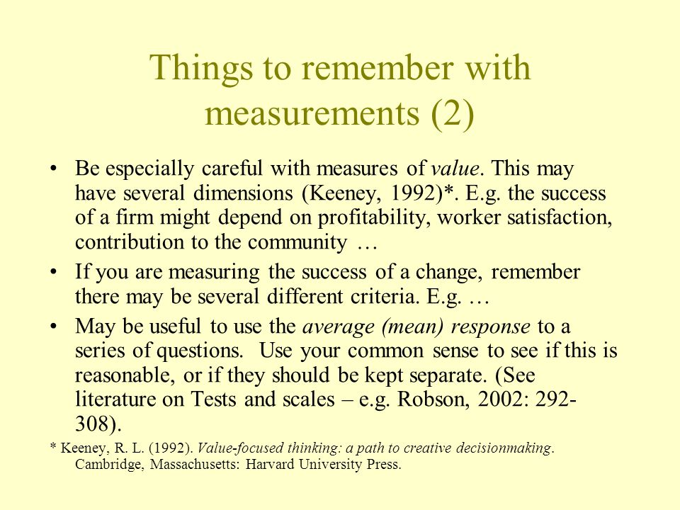 Things to remember with measurements (2)