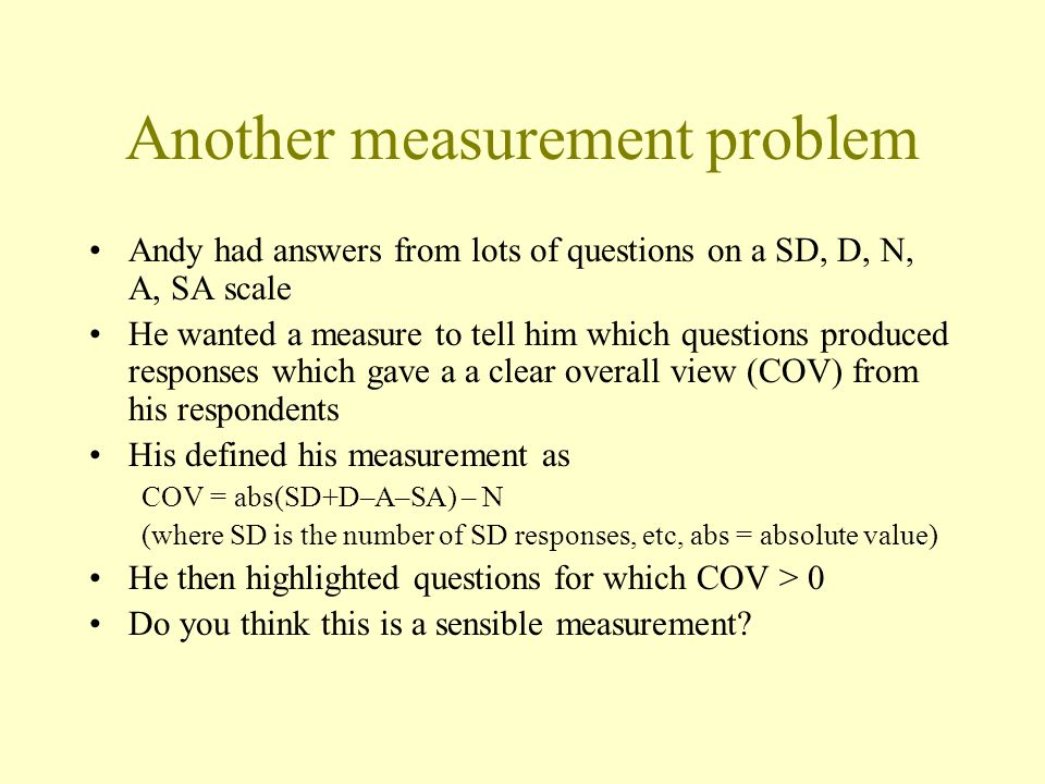 Another measurement problem