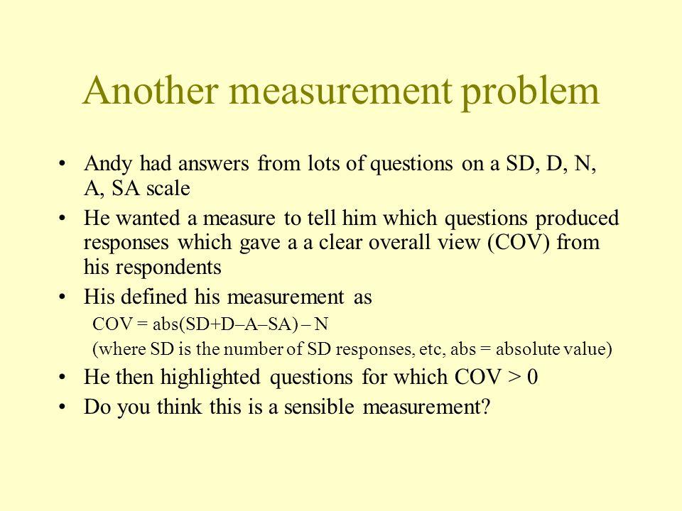 Another measurement problem