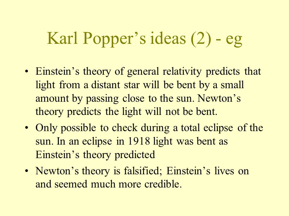 Karl Popper's ideas (2) - eg