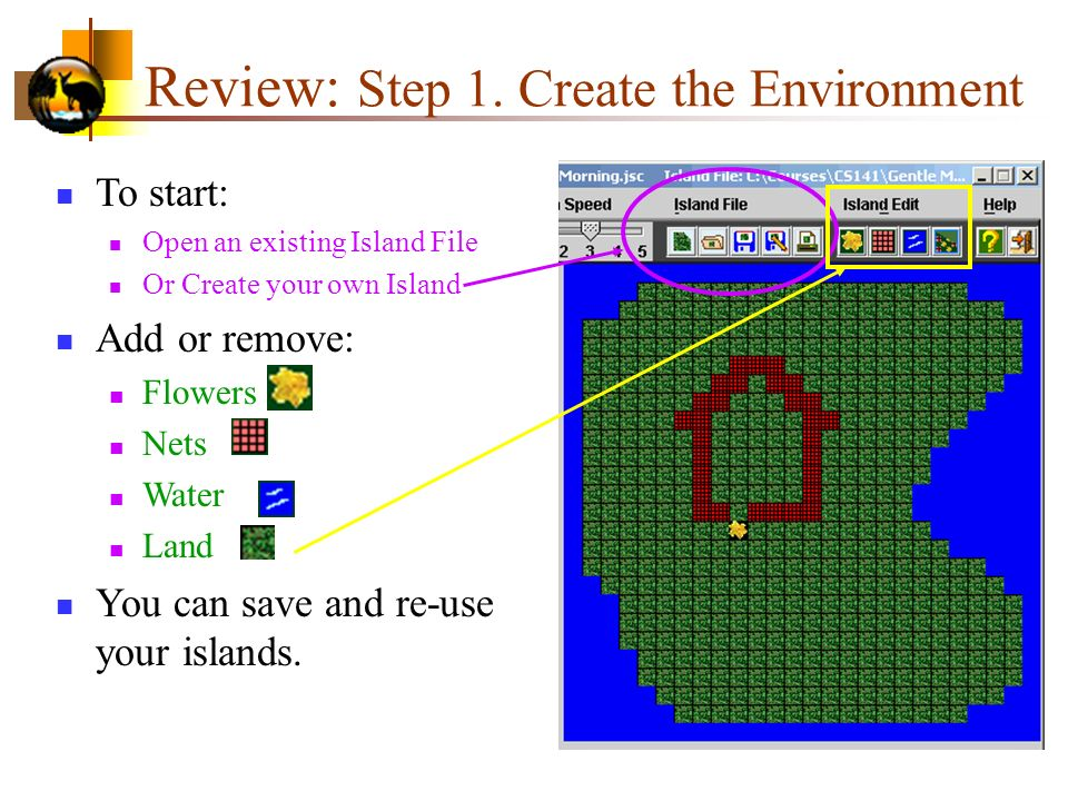 Review: Step 1. Create the Environment