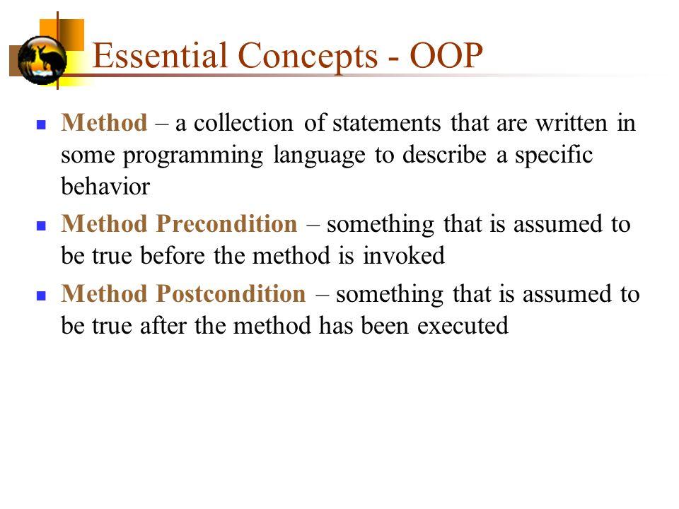 Essential Concepts - OOP