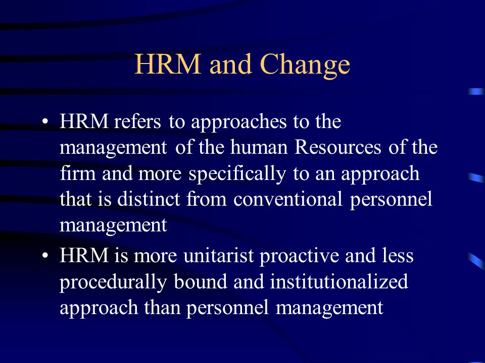 HRM and Change