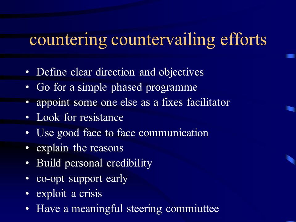 countering countervailing efforts