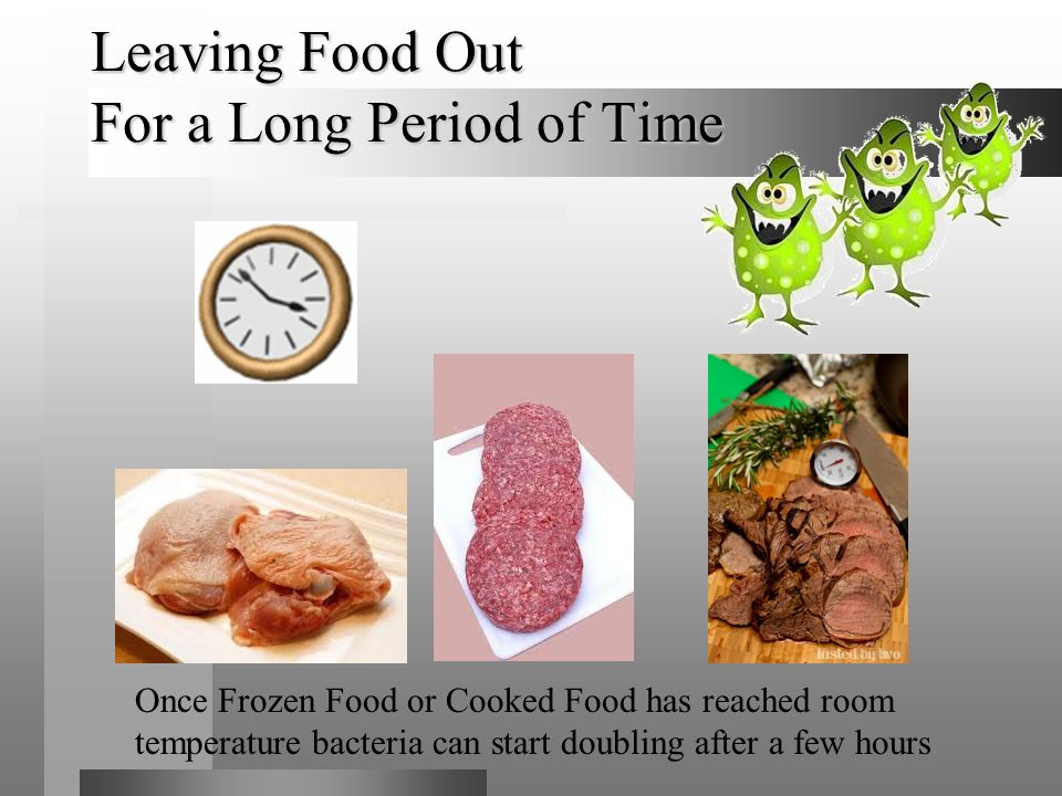 Leaving Food Out For a Long Period of Time