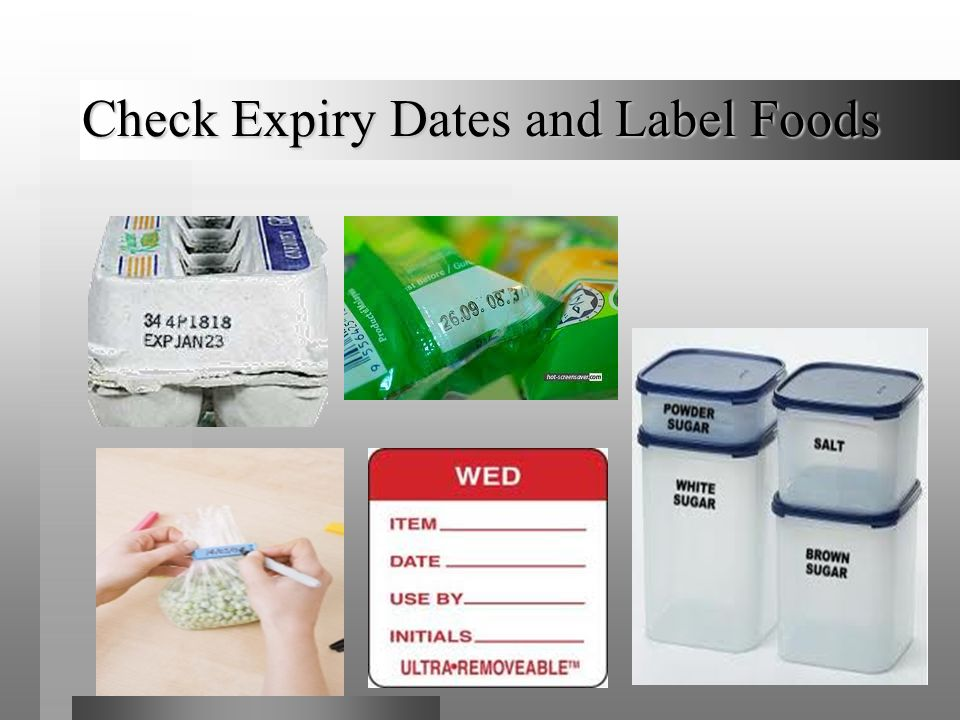 Check Expiry Dates and Label Foods