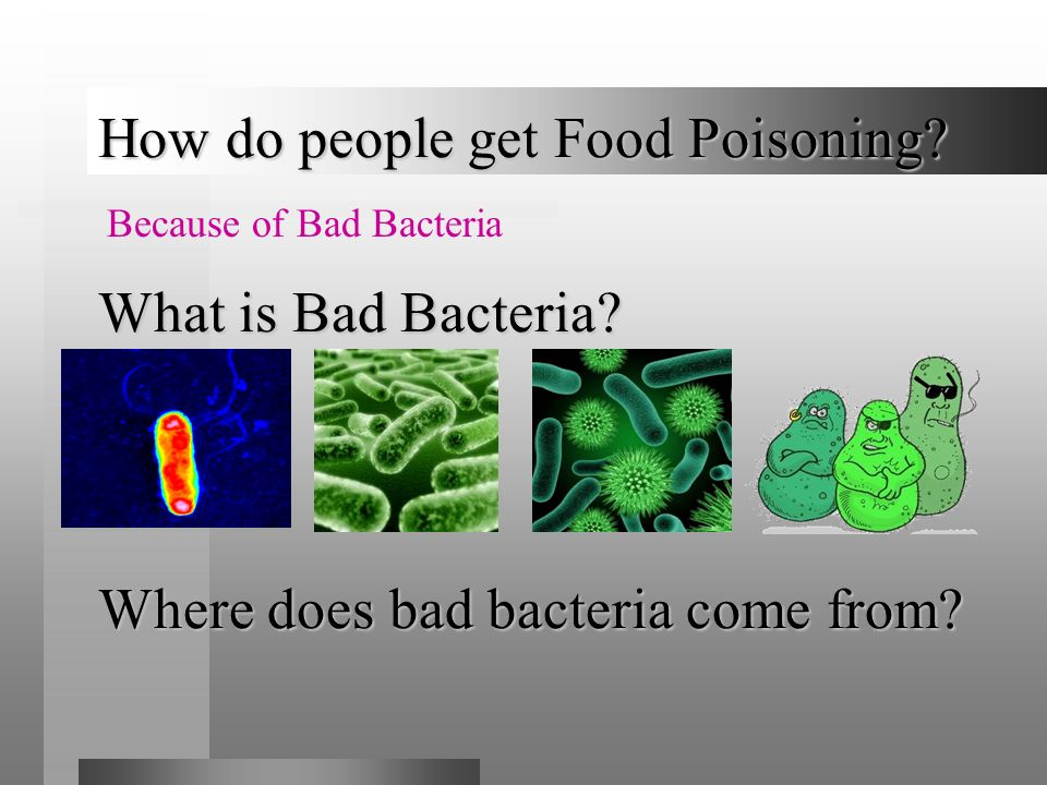How do people get Food Poisoning