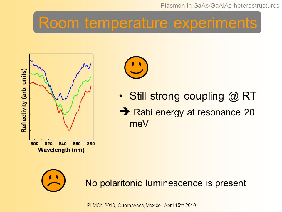 Room temperature experiments