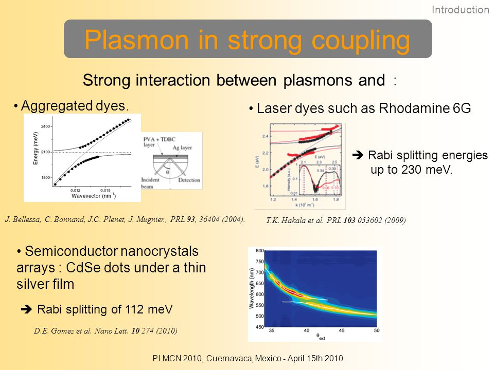 Plasmon in strong coupling